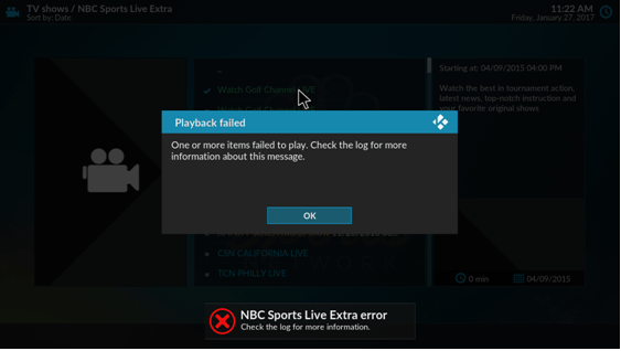 kodi nbc sports addon