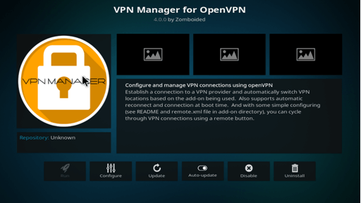 kodi vpn manager setup