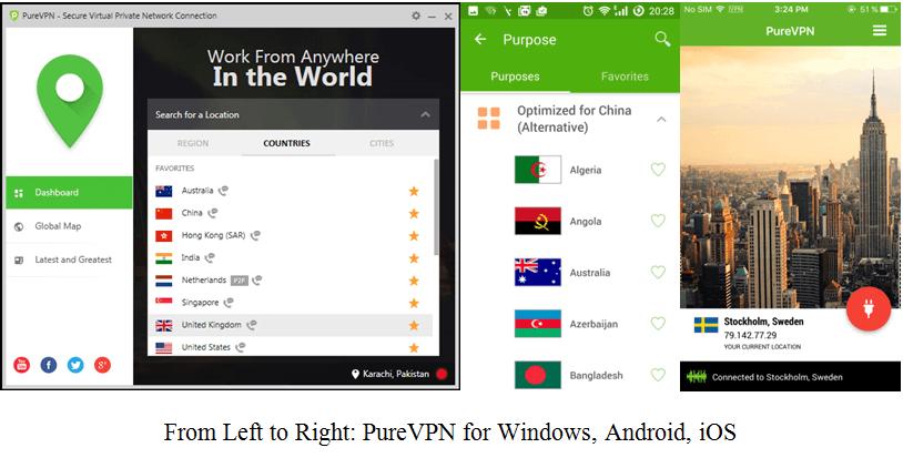 purevpn apps
