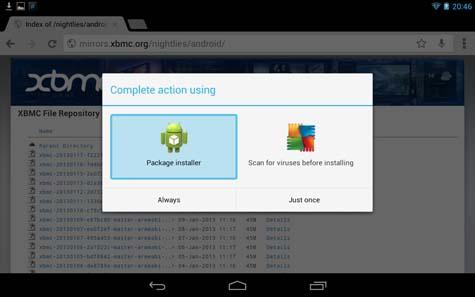 setup kodi for android step 7