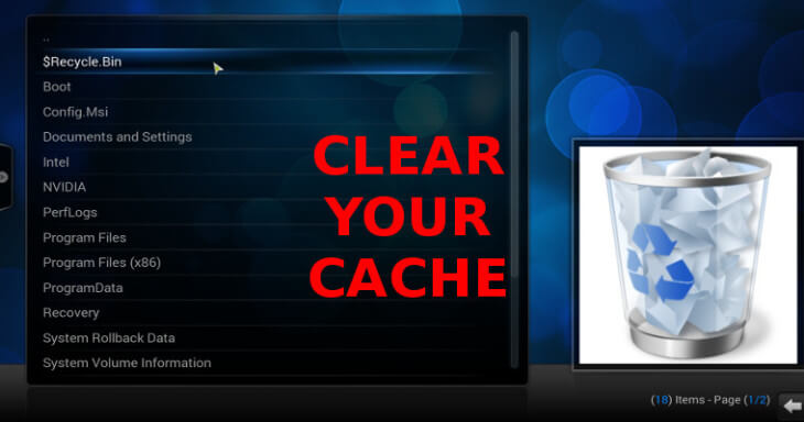 How to clearremove cache stop kodi buffering issue ccuart Image collections