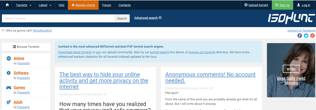 isohunt is extratorrent clone