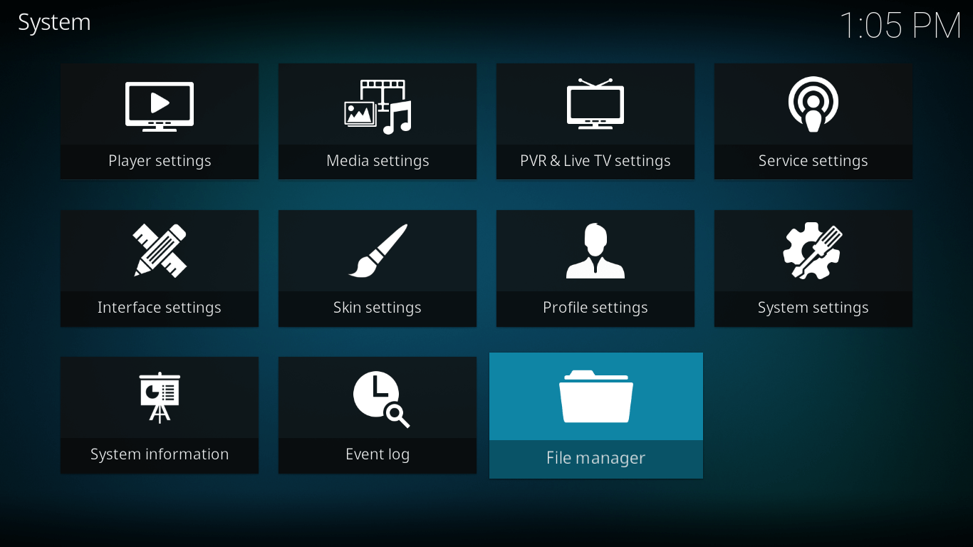 castaway file manager settings