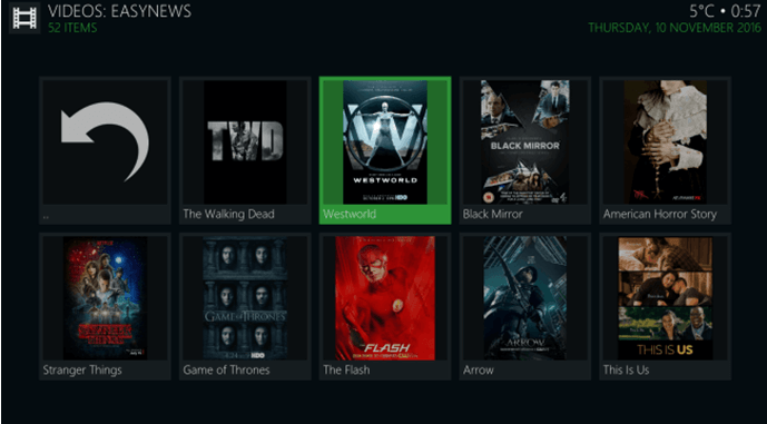 easynews kodi fire tv addon