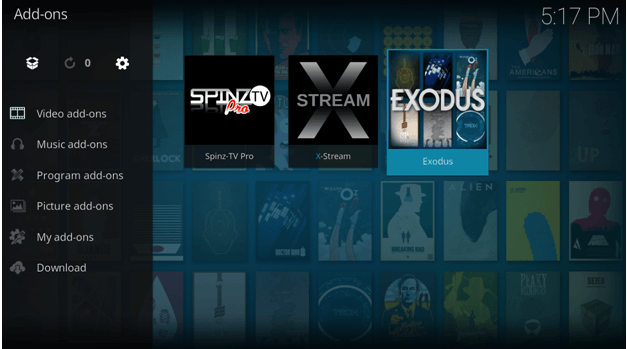 exodus addon setup on kodi amazon fire tv