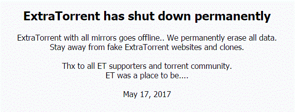 extratorrent.cc goes shutdown