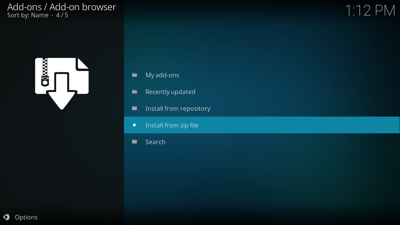 install castaway from zip file