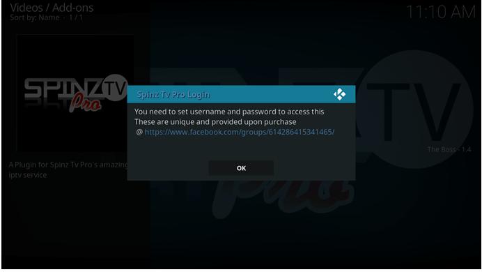 spinz tv pro login