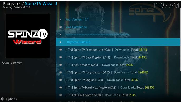 spinz tv wizard build