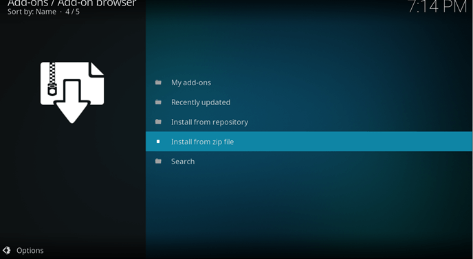 sportsdevil kodi Addon zip file settings