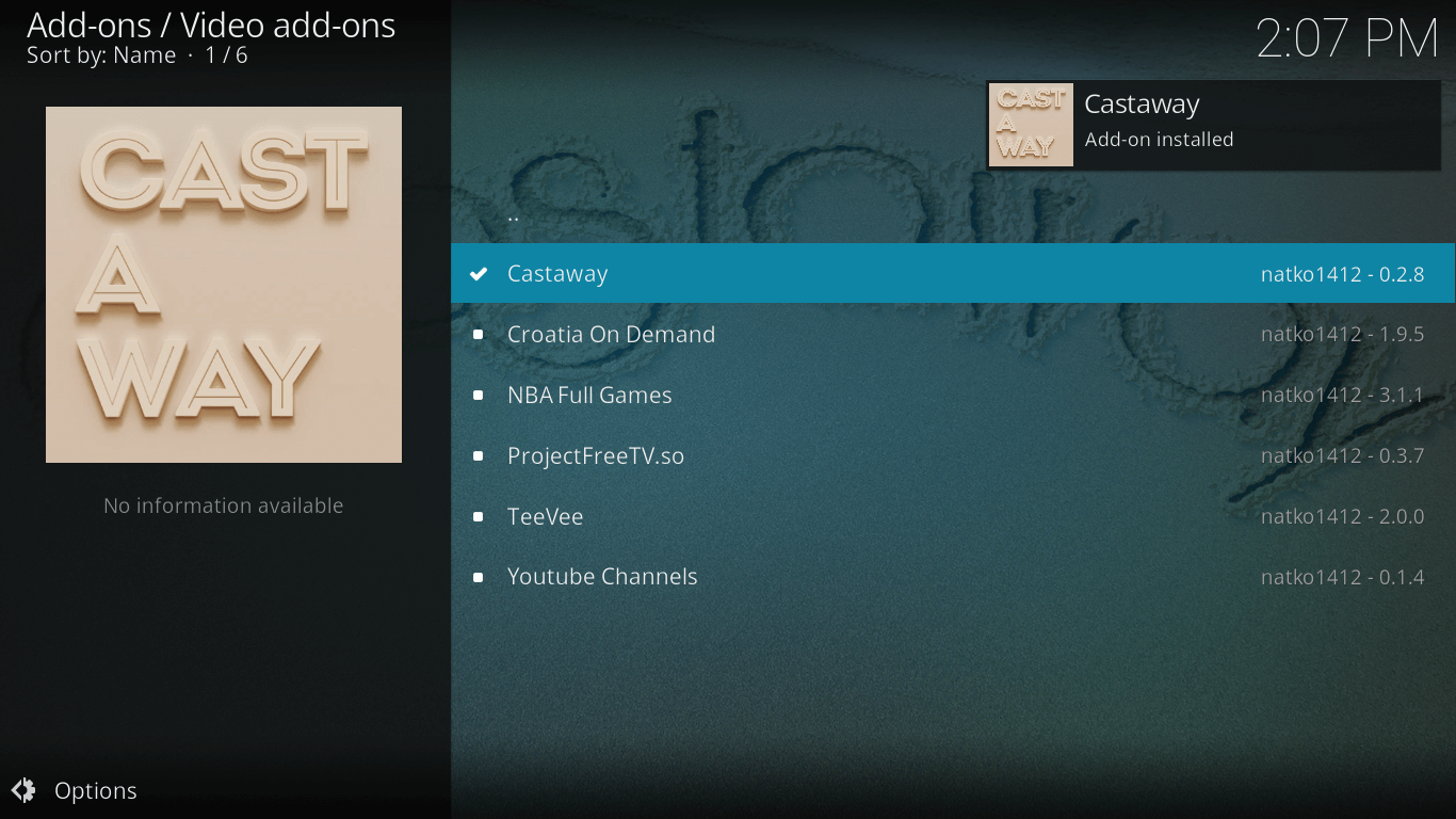 Wait For The Castaway Addon To Install On Kodi Xbmc Maintenance Tool To Clear  Cache Cleaning