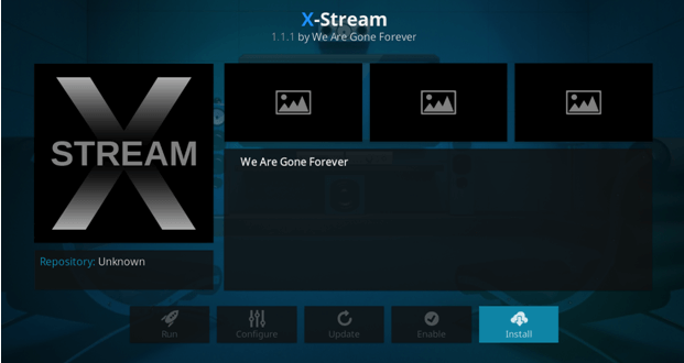 x-stream on kodi we are gone forever