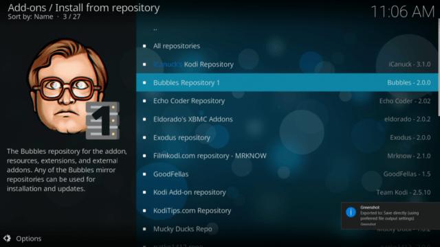 Bubbles kodi repository