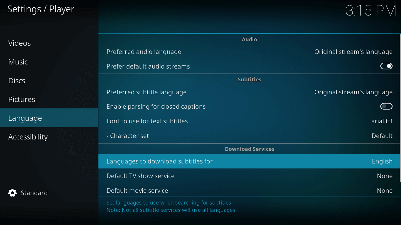 how to add subtitles to watch game of thrones on kodi