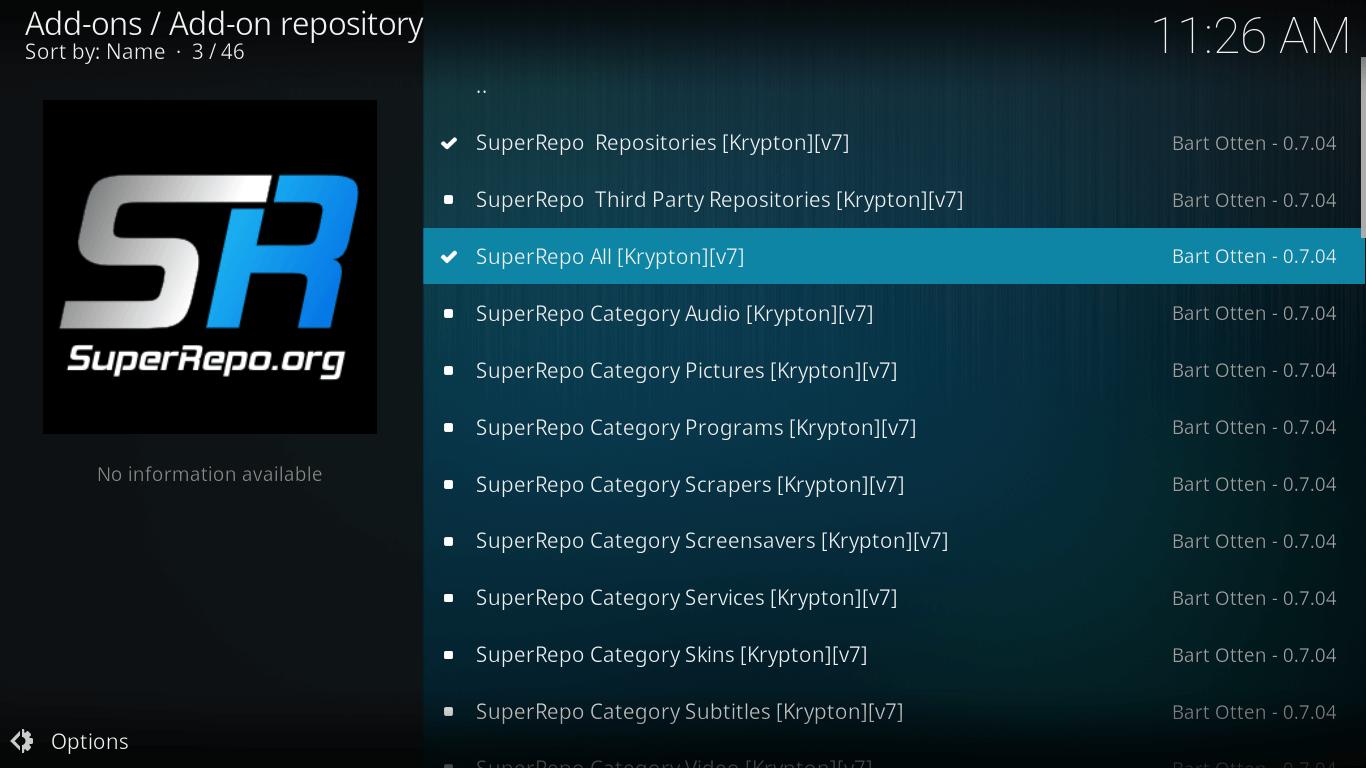 ccloud repository on kodi