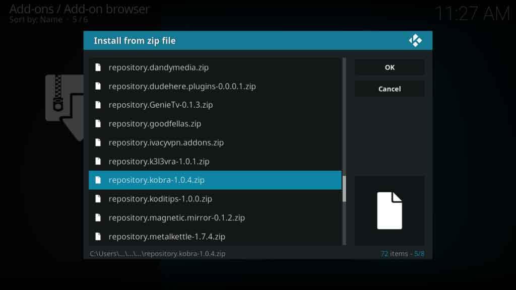 cloud vpn kobra repository zip file