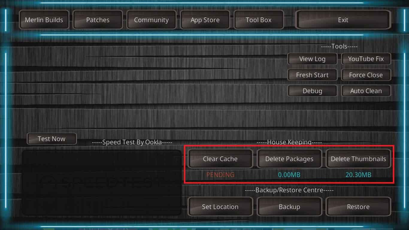done clearing cache kodi