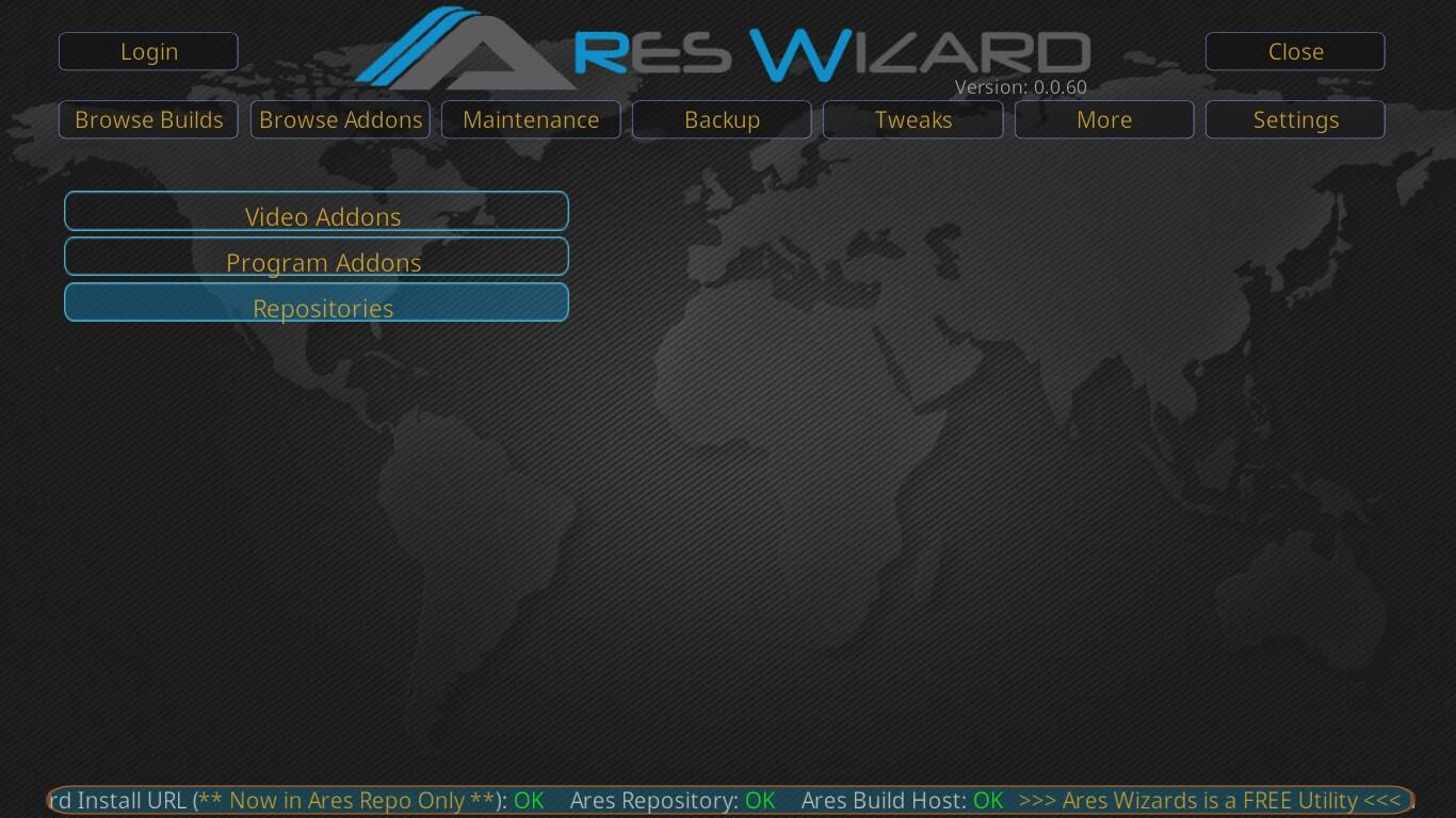Kodi Krypton Builds Ares Wizard