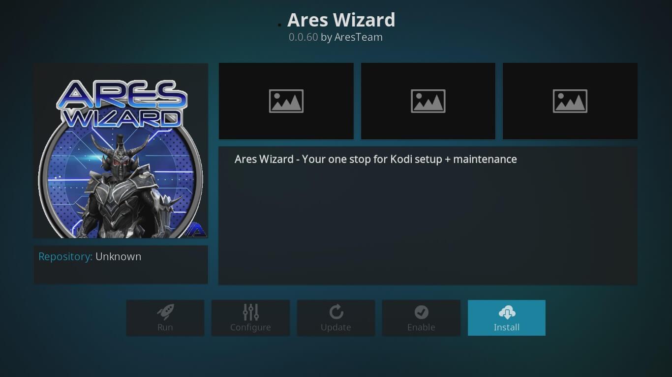ares wizard kodi setup