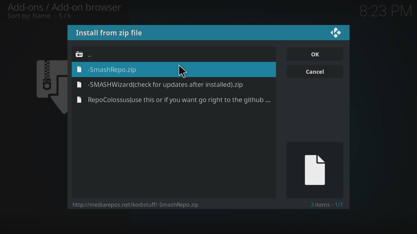 gurzil on kodi settings