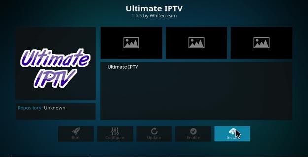 ultimate iptv on kodi configuration