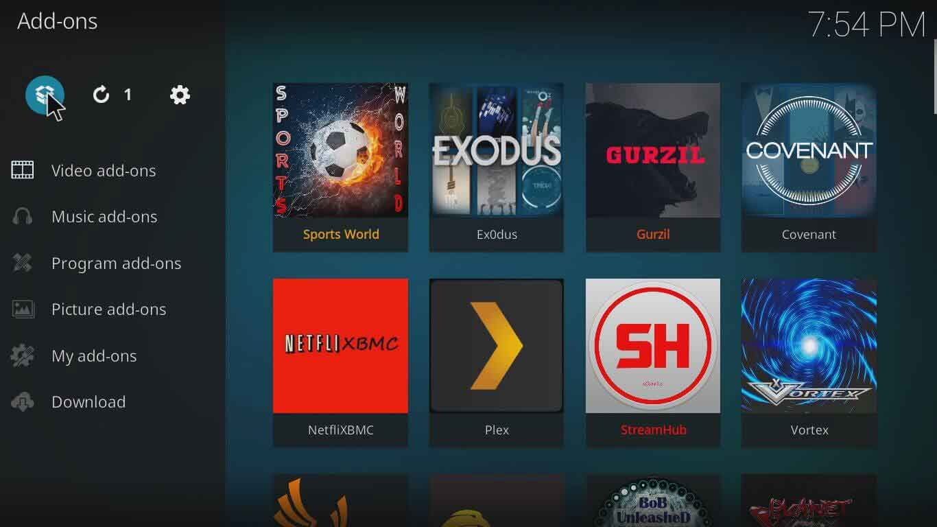How to add Elektra Vault on Kodi