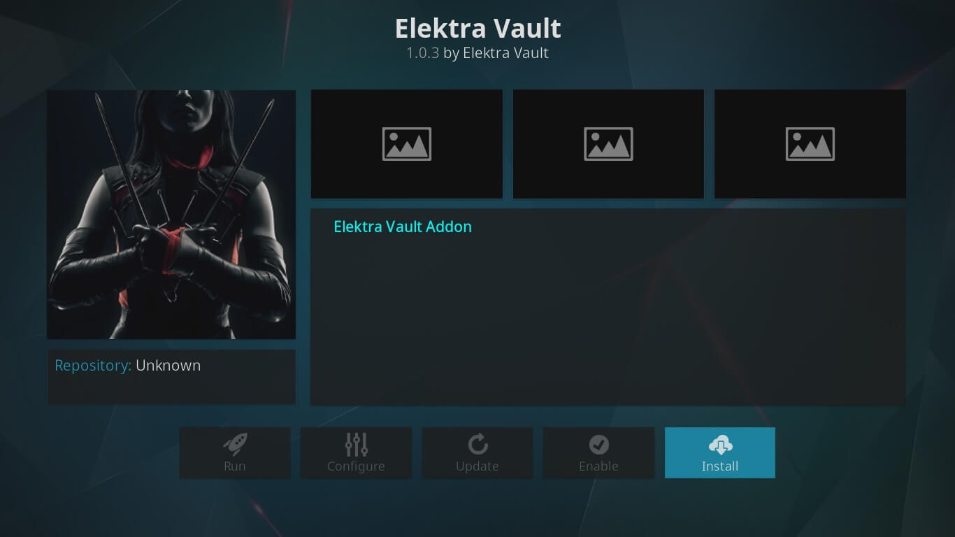 Elektra Vault on Kodi configuration