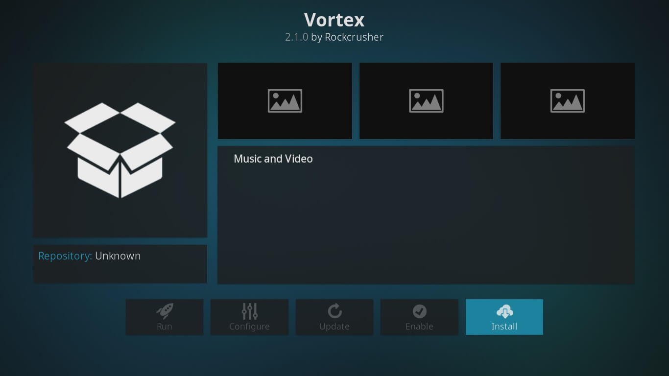 vortex on kodi setup