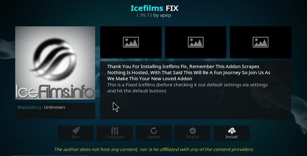 icefilms on kodi settings