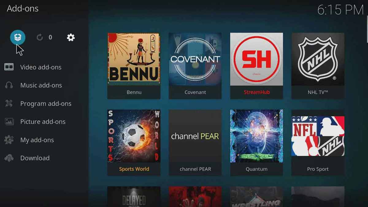 how to add salts on kodi