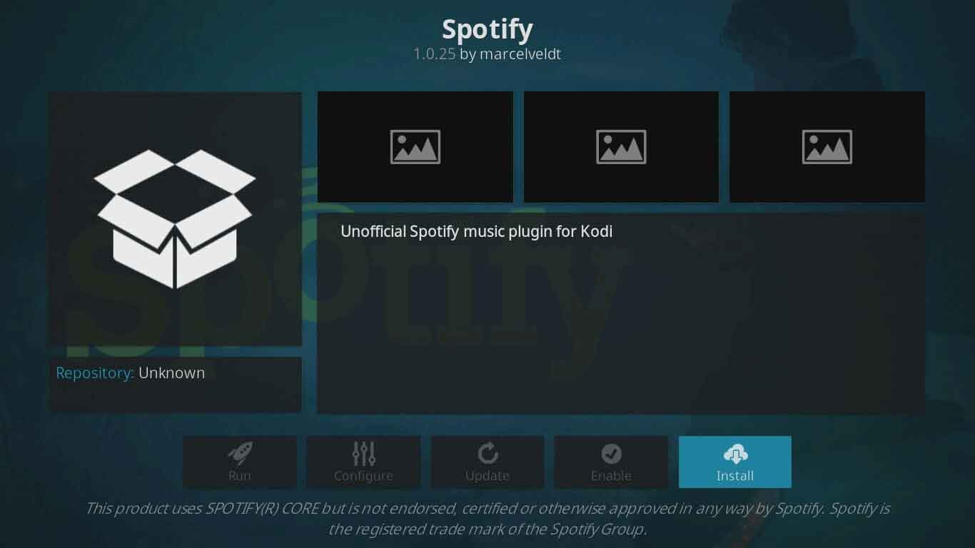 how to add spotify on kodi
