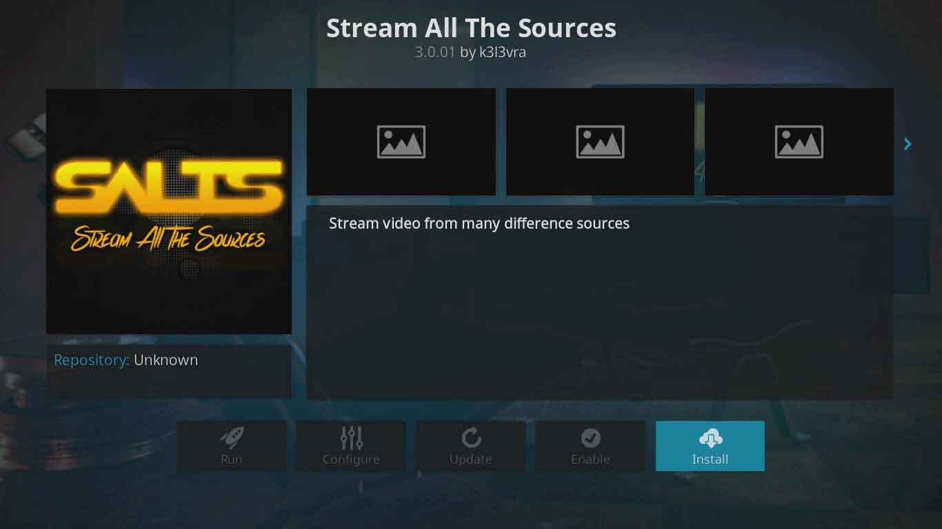 salts on kodi setup