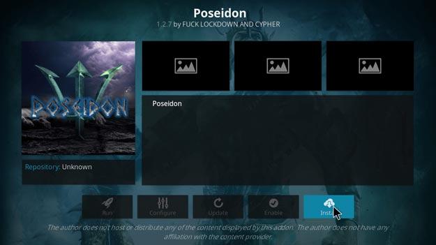 Poseidon video movie addon