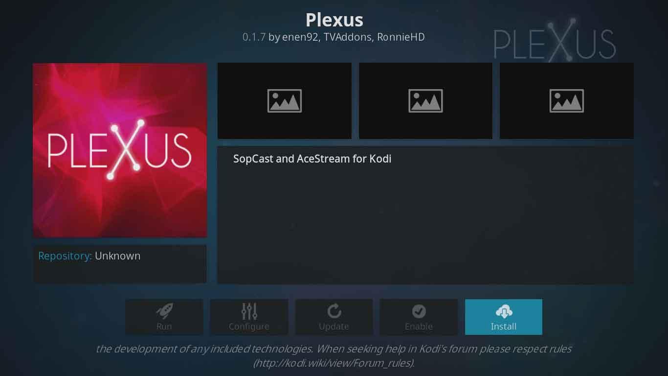 install plexus from tvaddons