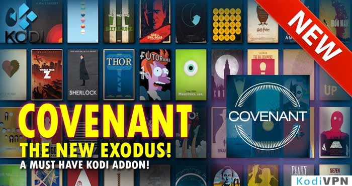 Setup covenant on kodi with kodil repo