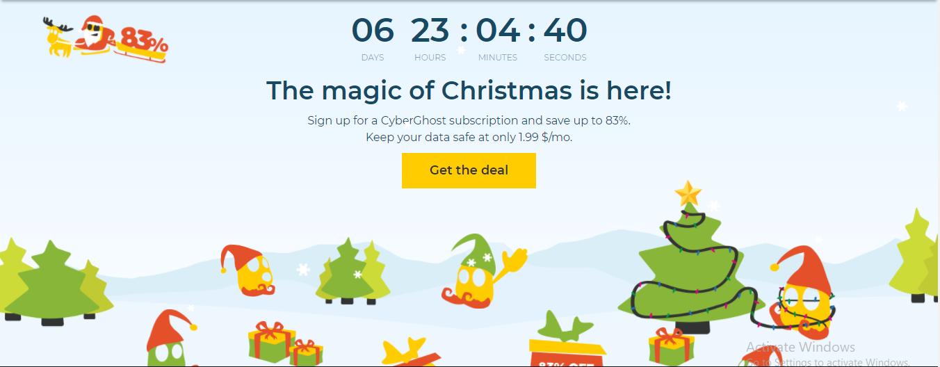 CyberGhost Christmas VPN Deal