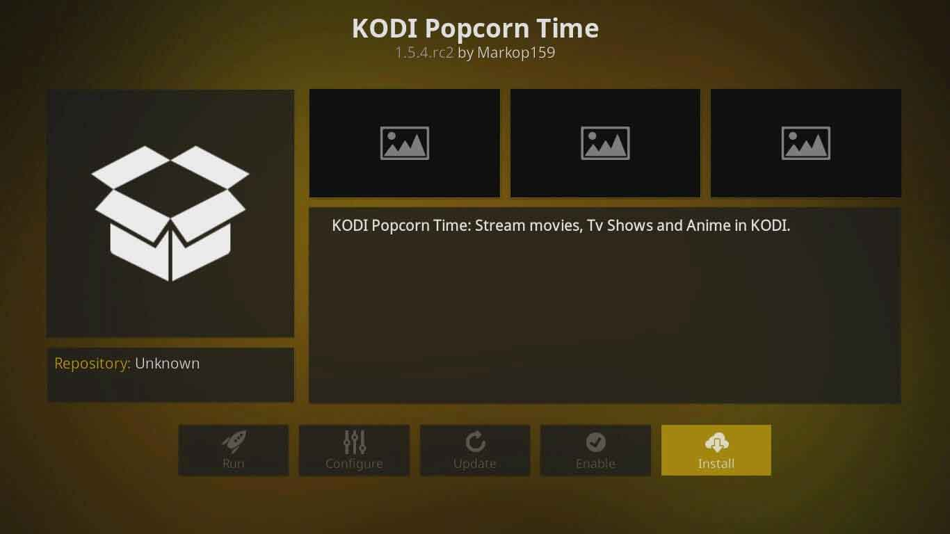 popcorn time kodi settings