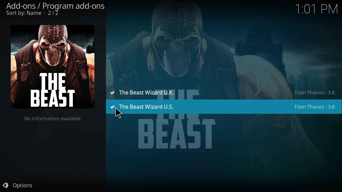 the beast 2 kodi