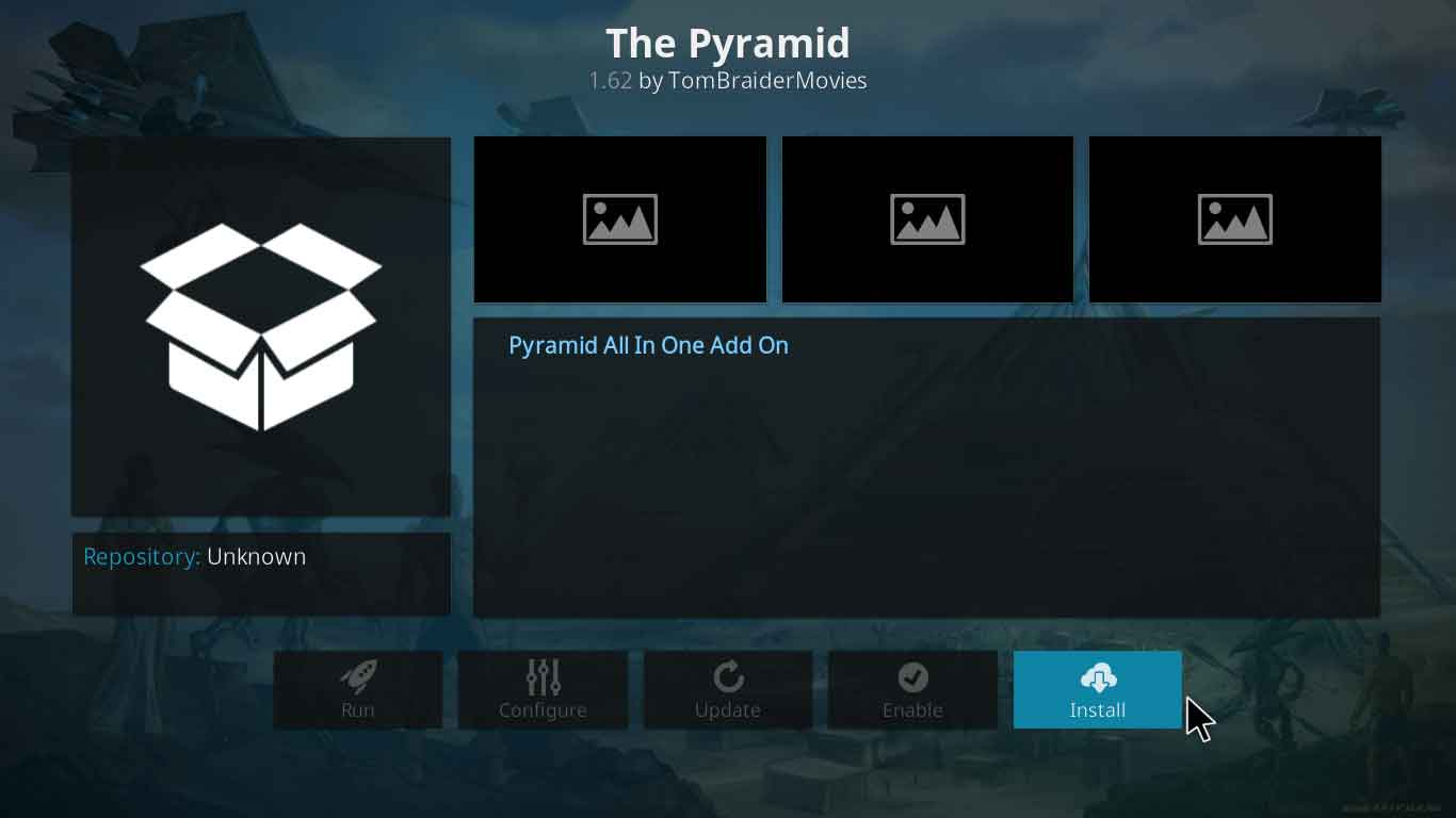 the pyramid kodi setup