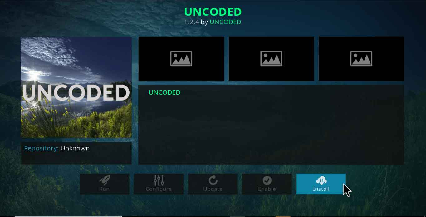how to add uncoded kodi addon