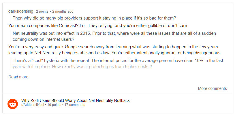 net neutrality reddit review