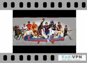 Champion Sports kodi addon