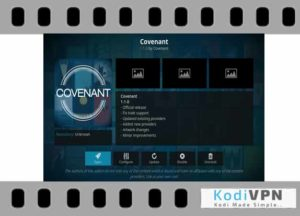 Covenant is one of the best kodi addon for movies