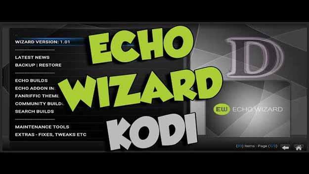 Echo kodi wizard