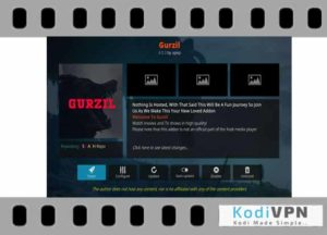 Gurzil addon new for kodi