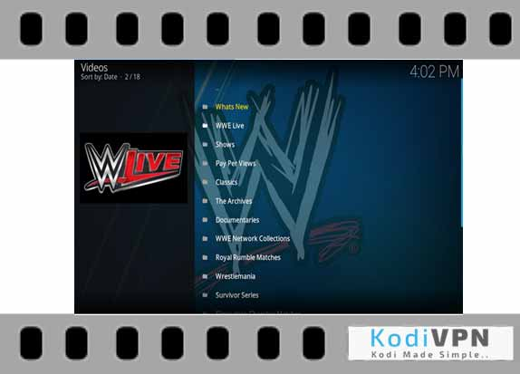 how to get wrestling on demand on kodi