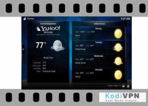 yahoo weather kodi addon