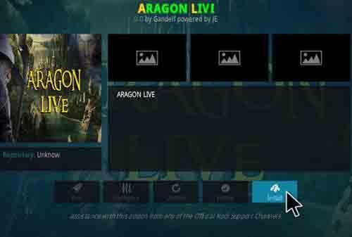 Aragon Live TV kodi repository
