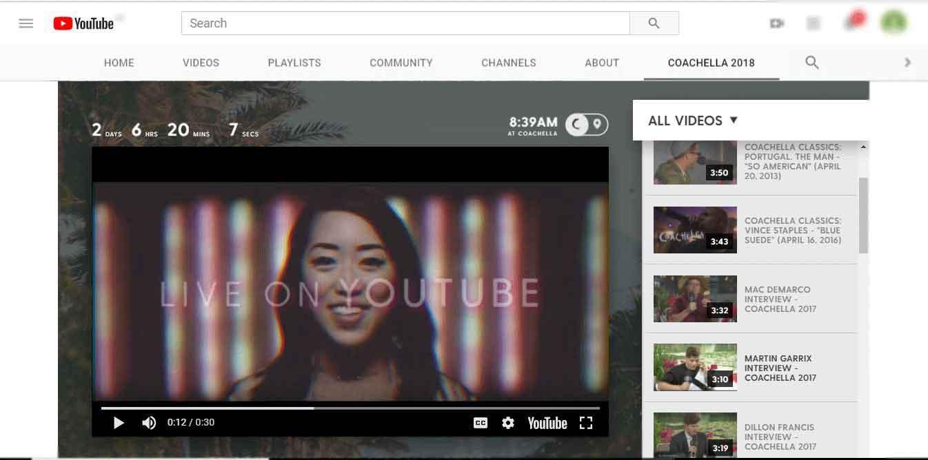 How to Watch Coachella on YouTube