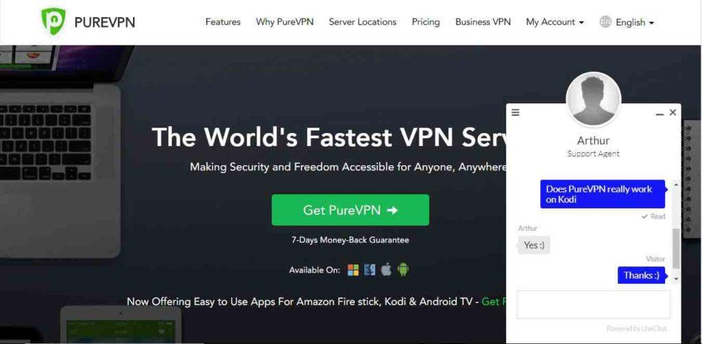 Does PureVPN really works on Kodi